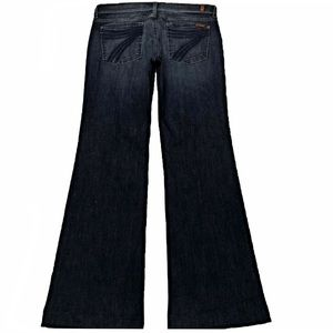 7 For All Mankind Dojo 29X32 Flare Blue Dark Jeans